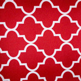 Red White Moroccan Canvas Waterproof Outdoor Fabric