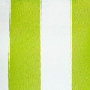 Lime White Stripe Canvas Waterproof Outdoor Fabric