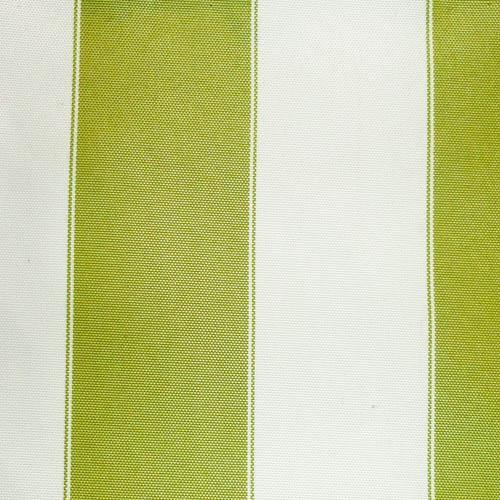 Olive Ivory Stripe Canvas Waterproof Outdoor Fabric