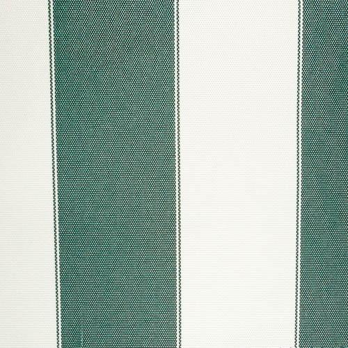 Hunter Green Stripe Canvas Waterproof Outdoor Fabric