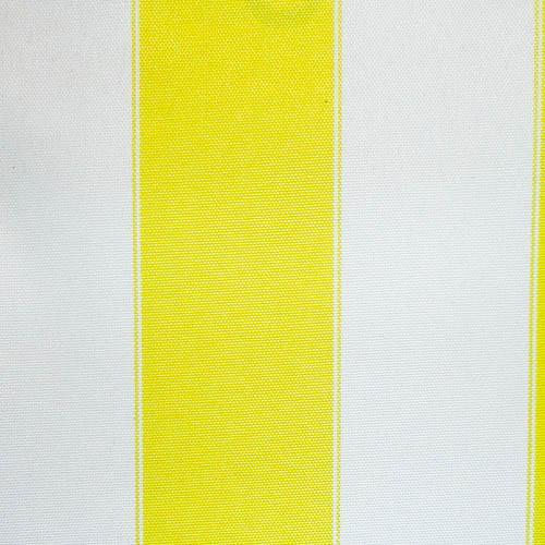 Yellow White Stripe Canvas Waterproof Outdoor Fabric