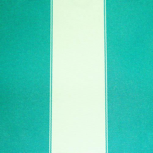 Aqua White Stripe Canvas Waterproof Outdoor Fabric