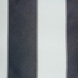 Navy White Stripe Canvas Waterproof Outdoor Fabric