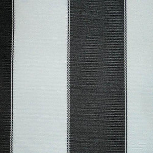 Black White Stripe Canvas Waterproof Outdoor Fabric
