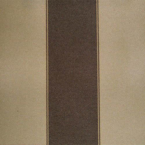 Brown Khaki Stripe Canvas Waterproof Outdoor Fabric