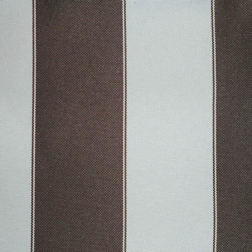 Brown White Stripe Canvas Waterproof Outdoor Fabric