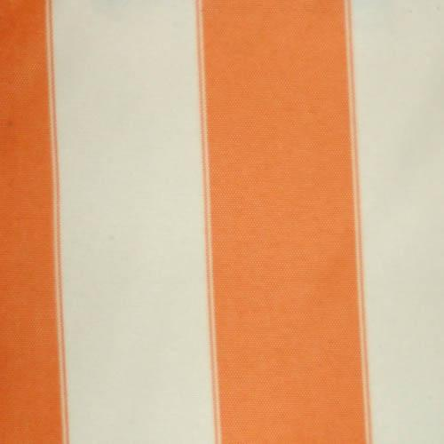 Orange Ivory Stripe Canvas Waterproof Outdoor Fabric