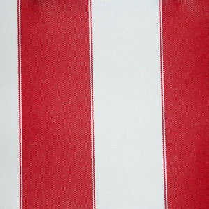 Red White Stripe Canvas Waterproof Outdoor Fabric