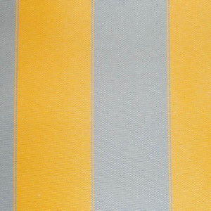 Mustard Gray Stripe Canvas Waterproof Outdoor Fabric