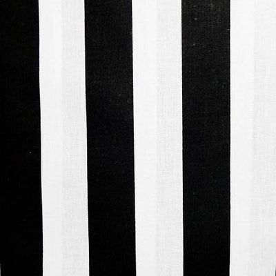 One Inch Black and White Stripes Poly Cotton Fabric