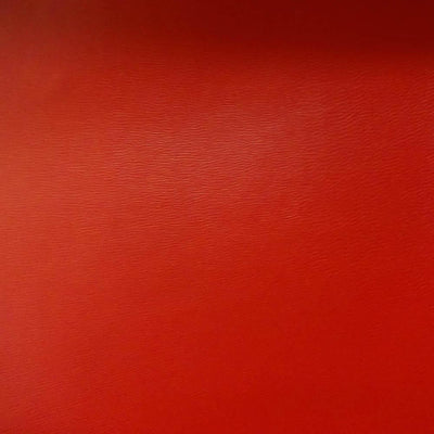 Red 0.9 mm Thickness Soft Semi-PU Faux Leather Vinyl Fabric