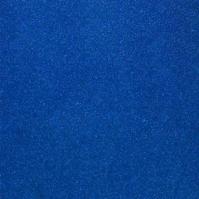 Dark Blue Glitter Sparkle Metallic Faux Fake Leather Vinyl Fabric / 40 Yards Roll