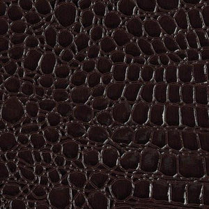 "Dark Burgandy Vinyl Crocodile, 55"" Inches Wide"