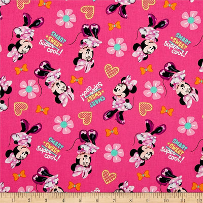 Disney Minnie Mouse Smart Sweet 100% Cotton Fabric