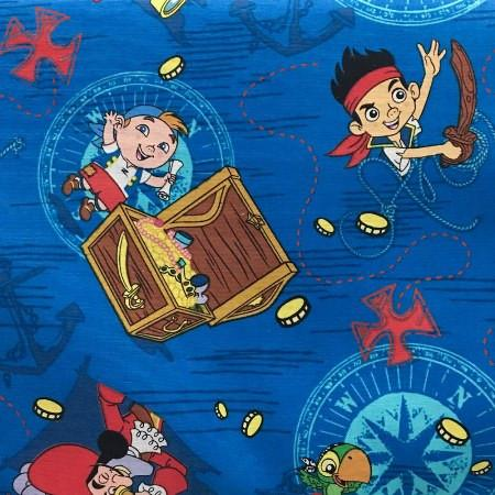 Disney Jake in Neverland 100% Cotton Print Fabric