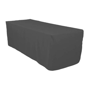 6 Ft Charcoal Fitted Polyester Rectangular Tablecloth