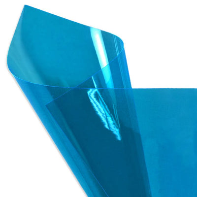 Blue 12 Gauge Tinted Plastic Vinyl Fabric