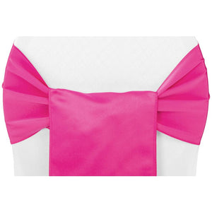 (12 Pack ) Fuschia Satin Sash