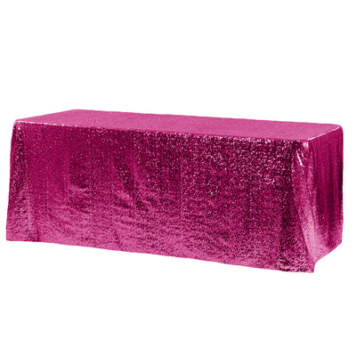 Fuchsia Glitz Sequin Rectangular Tablecloth 90 x 132