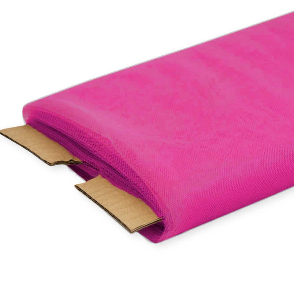 "Fuchsia Nylon Tulle Fabric, 54"" Inches Wide - 40 Yards By Roll"