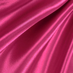 Bridal Satin Fuchsia Fabric