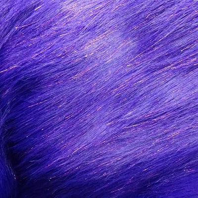 Purple Glitter Shaggy Fabric