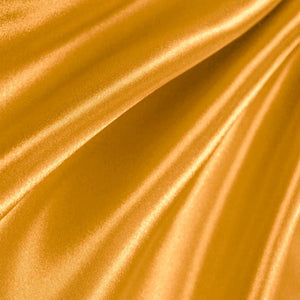 Gold Poly Satin Fabric / 50 Yards Roll