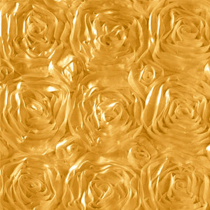 Rosette Satin Gold Fabric