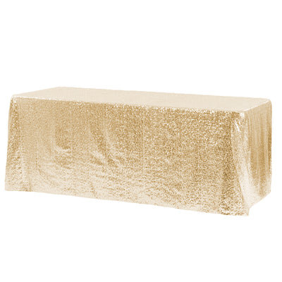 Gold Glitz Sequin Rectangular Tablecloth 90 x 132