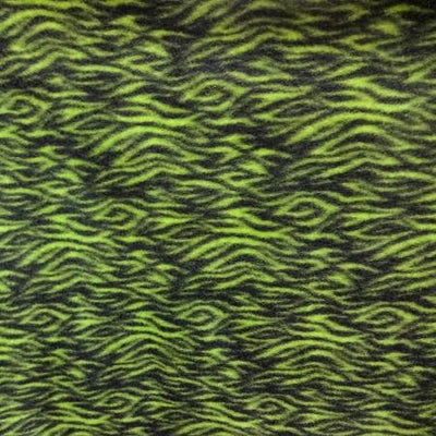 Green Wave Tree Anti Pill Fleece Fabric