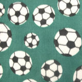 Soccer Green Anti Pill Print Fleece Fabric