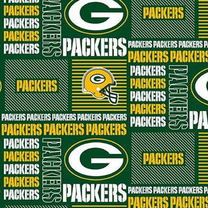 Green Bay Packers NFL Patchwork 100% Cotton Print Fabric