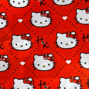 Sanrio Hello Kitty Red Diamonds 100% Cotton Print Fabric