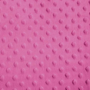 Hot Pink Minky Dimple Dot Fabric