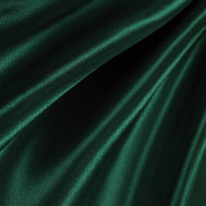 Hunter Green Poly Satin Fabric