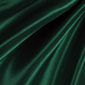 Hunter Green Poly Satin Fabric / 50 Yards Roll