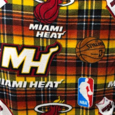Miami Heat Plaid NBA Fleece Fabric