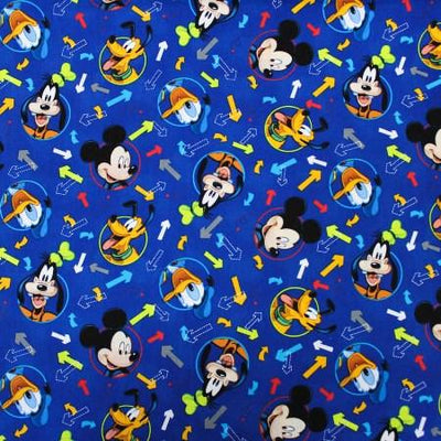 Disney Mickey Mouse Arrow 100% Cotton Print Fabric