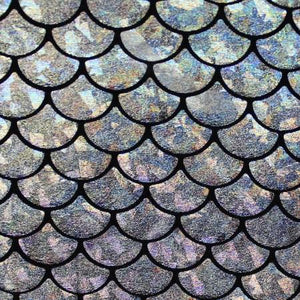 Mystic Silver Mermaid Fish Scale