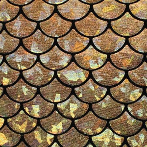 Mystic Gold Mermaid Fish Scale