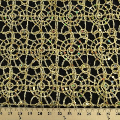 Champagne Corded Lace Fabric