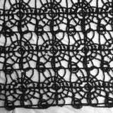 Black Corded Lace Fabric