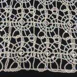 Silver Corded Lace Fabric