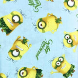 Despicable Me Blue Hawaiian Minions 100% Cotton Print Fabric