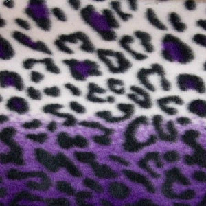 Purple Snow Leopard Fleece Fabric
