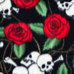 Skulls & Roses Anti Pill Fleece Fabric