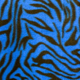 Sky Blue/Black Zebra Fleece Fabric