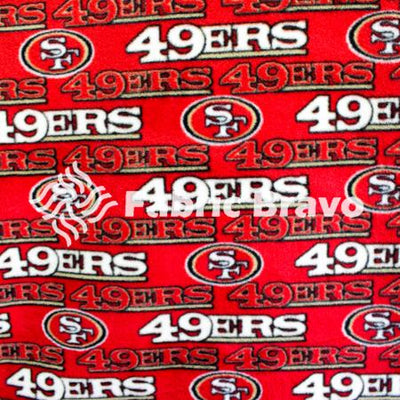San Francisco 49ers Solid NFL Fleece Fabric