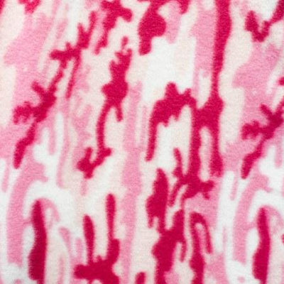 Pink Army Camouflage Fleece Fabric