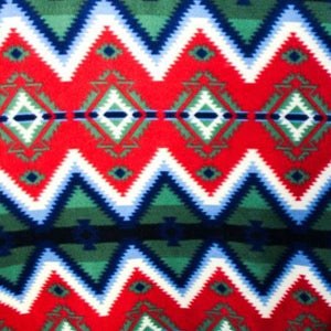 Tribal Diamonds Indian Print Anti Pill Fleece Fabric